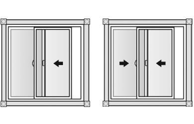 Horizontal slider windows