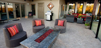 photo of patio with membrane deck covering