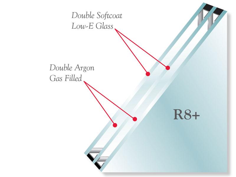 illustration of vwd triple glazed window
